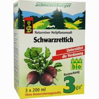 Abbildung von Schwarzrettich Schoenenberger Heilpflanzensäfte Saft 3 x 200 ml