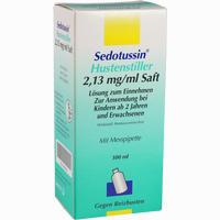 Abbildung von Sedotussin Hustenstiller Saft 100 ml