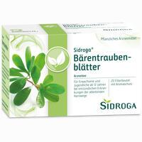 Abbildung von Sidroga Bärentraubenblätter Filterbeutel 20 Stück