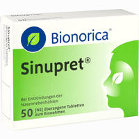Sinupret  Bionorica überzogene Tabletten  50 Stück