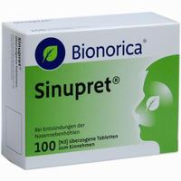 Sinupret Bionorica überzogene Tabletten  100 Stück