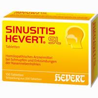 Sinusitis Hevert Sl  Tabletten 200 Stück