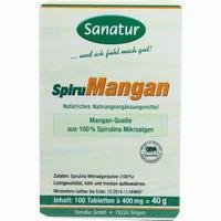 Spirumangan Mangan Spirulina Tabletten 100 Stück