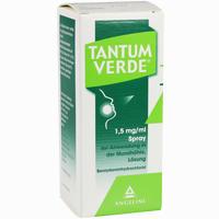 Abbildung von Tantum Verde 1.5mg/ml Spray zur Anwendung in der Mundhöhle  30 ml