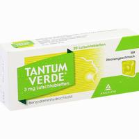 Abbildung von Tantum Verde 3mg mit Zitronengeschmack Lutschtabletten  20 Stück