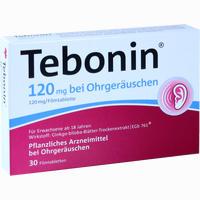 Abbildung von Tebonin 120mg bei Ohrgeräuschen Filmtabletten 30 Stück