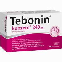 Abbildung von Tebonin Konzent 240mg Filmtabletten  80 Stück