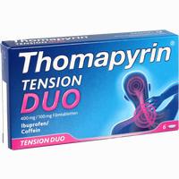 Abbildung von Thomapyrin Tension Duo 400 Mg/100mg Filmtabletten  6 Stück