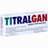 Abbildung von Titralgan gegen Schmerzen Tabletten 10 Stück