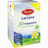 Abbildung von Töpfer Lactana Bio Folgemilch 2 Pulver 600 g