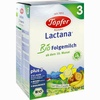 Töpfer Lactana Bio Folgemilch 3 Pulver 600 G