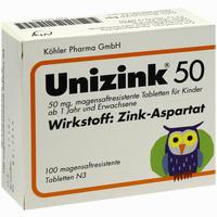 Unizink 50  Tabletten 100 Stück