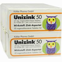 Unizink 50  Tabletten 10X50 Stück
