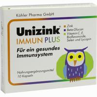 Abbildung von Unizink Immun Plus Kapseln 1 x 10 Stück