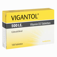 Abbildung von Vigantol 500 I. E. Vitamin D3 Tabletten 100 Stück