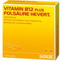 Vitamin B 12 Folsaeure Hevert Amp.-Paare 50x2 ml