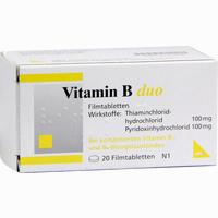 Vitamin B Duo  Filmtabletten 20 Stück