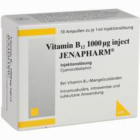 Vitamin B12 1000ug Inject Jenapharm  Ampullen 10X1 ml