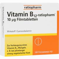 Abbildung von Vitamin- B12- Ratiopharm 10ug Filmtabletten  100 Stück