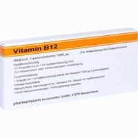 Vitamin B12 Roewo 1000mg  Ampullen 10X1 ml