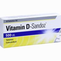 Abbildung von Vitamin D- Sandoz 500 I. E. Tabletten 50 Stück