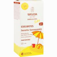 Abbildung von Weleda Edelweiss Sensitiv Sonnenmilch Lsf 30 Baby & Kids 150 ml