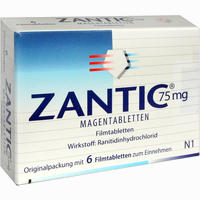 Zantic 75mg Magentabletten  Filmtabletten 6 Stück