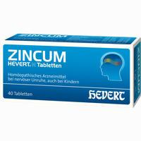 Zincum Hevert N Tabletten   40 Stück