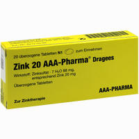Abbildung von Zink 20 Aaa- Pharma Dragees  20 Stück