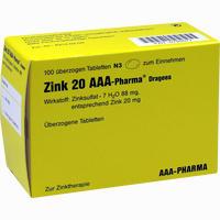 Zink 20 Aaa-pharma Dragees   100 Stück