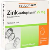 Abbildung von Zink Ratiopharm 25mg Brausetabletten 20 Stück