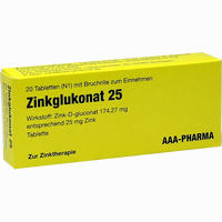 Zinkglukonat 25mg  Tabletten 20 Stück
