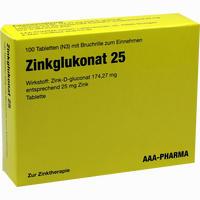 Zinkglukonat 25mg  Tabletten 100 Stück