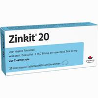 Abbildung von Zinkit 20 Dragees 20 Stück