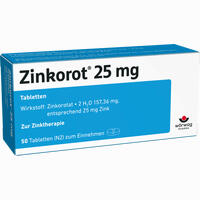 Zinkorot 25  Tabletten 50 Stück