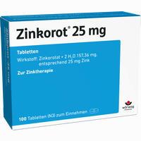 Zinkorot 25  Tabletten 100 Stück
