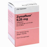 Abbildung von Zymafluor 0.25mg Tabletten 250 Stück