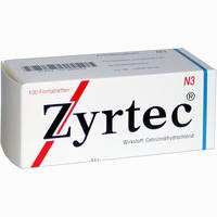 Abbildung von Zyrtec Filmtabletten Ucb pharma gmbh 100 Stück