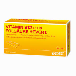 vitamin b12 fols ure hevert apa 20 x 2 ml preisvergleich. Black Bedroom Furniture Sets. Home Design Ideas