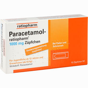 paracetamol ratiopharm 1000mg z pfchen 10 st ck preisvergleich. Black Bedroom Furniture Sets. Home Design Ideas