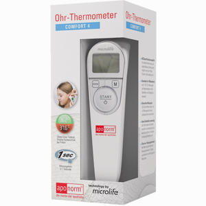 Aponorm Comfort 3 Ohr-thermometer Infrarot Fieberthermometer Kinderthermometer Messgeräte & Tests