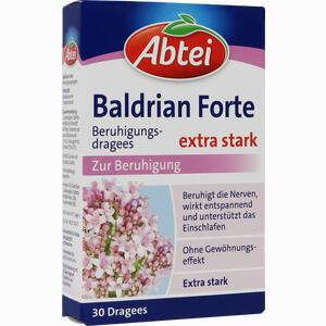 Abbildung von Abtei Baldrian Forte Beruhigungsdragees Tabletten 30 Stück