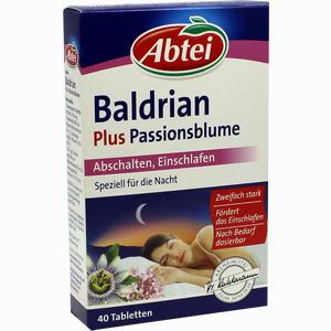 Abbildung von Abtei Baldrian Plus Passionsblume Tabletten 40 Stück