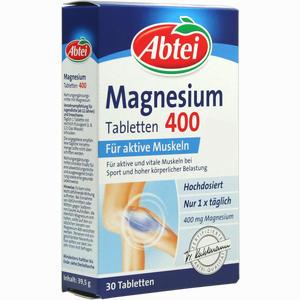 Abbildung von Abtei Magnesium 400 Tabletten 30 Stück