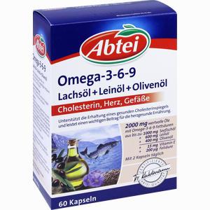Abbildung von Abtei Omega 3- 6- 9 Lachsöl+leinöl+olivenöl Kapseln 60 Stück