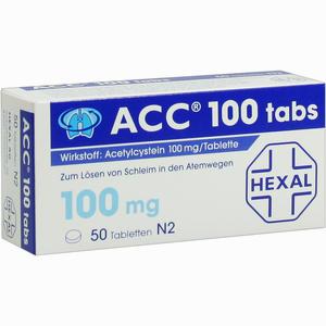Abbildung von Acc 100 Tabs Tabletten 50 Stück