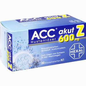 Abbildung von Acc Akut 600 Z Hustenlöser Brausetabletten 20 Stück