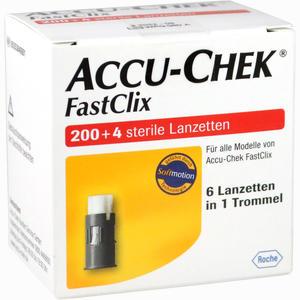 Abbildung von Accu- Chek Fastclix Lanzetten  Roche diagnostics 204 Stück