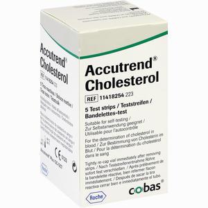 Abbildung von Accutrend Cholesterol Teststreifen 5 Stück
