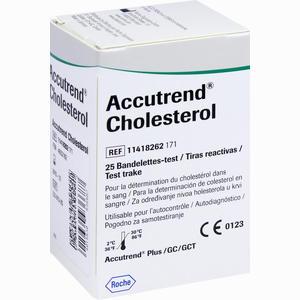Abbildung von Accutrend Cholesterol Teststreifen Roche diagnostics 25 Stück